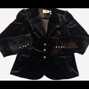 Juicy couture cropped velvet jacket